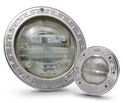 Pentair Light fixtures LED white light = $407.00 LED Color Light = $627.00 Regular Light 300W = $227.00
